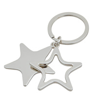 Sternform-Schlüsselanhänger, hohler Schlüsselring (GZHY-KA-030)