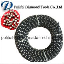 La corde de coupe de fil de diamant a vu pour la coupe en marbre de granit de pierre