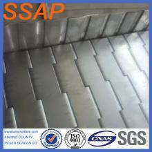 cheap metal plate conveyor belt for food processing , metal hot treatment