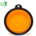 Collapsible Silicone Pet Food Water Bowl For Dog