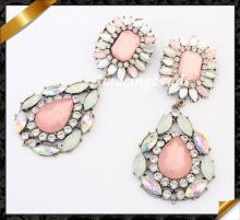 2014 Most Popular Zinc Alloy Earring, Fashion Crystal Earrings Jewelry (FE022)