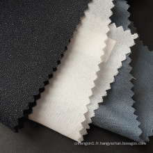 Entoilage de fusion tissé écologique de Microdot de polyester