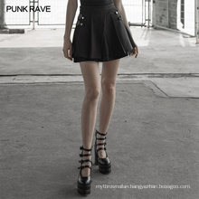 OPQ-506 punk rave front fork fake two pieces half skirt women summer mini skirts dropshipping
