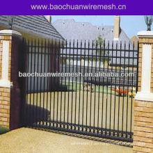 Puertas decorativas de hierro forjado de 6 pies