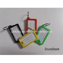 Tarjeta de signo C & etiquetas clave y etiqueta y llavero de plástico y accesorios (DR-Z0163)