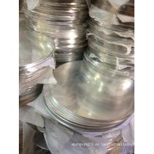 Placa circular de aluminio 1100 para muebles