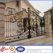 Elegante simple puerta de hierro forjado galvanizado caliente residencial