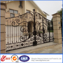 Porte résidentielle élégante élégante en fer forgé galvanisé à chaud