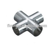 sanitary stainless steel butt weld cross