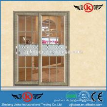 JK-AW9128 fancy Stil dekorative Aluminium Tür Glas Schiebetür