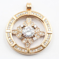 Factory Direct Custom Made 316L Stainless Steel Fashion Locket with Clear Stones