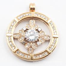Завод прямой заказ из нержавеющей стали 316L медальон мода с прозрачными камнями