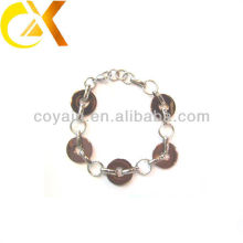 stainless steel jewelry interlocking chain link ring bracelet for girl