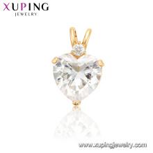 34224 xuping luxo simulação chrystal coração mulheres pingente encantos