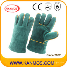 27cm Cowhide Split Leather Industrial Safety Welding Work Gloves (111031-27)