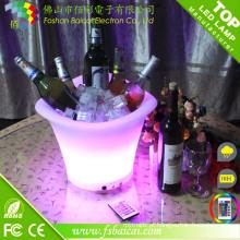 Balde de gelo LED com mudança de cor
