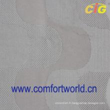 tissu de velours de coton blanc