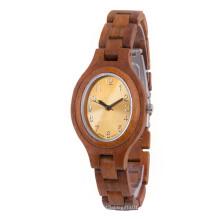 Reloj de pulsera de alta calidad Hlw068 OEM de madera y reloj de pulsera de bambú para hombres