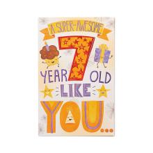 Tarjeta de cumpleaños con tarjeta de papel con brillo de American Greetings Super-Awesome