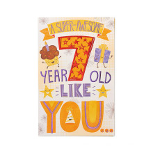 Открытка American Greetings Super-Awesome 7th с бумажной картой с блестками