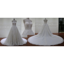 Ball Gown Cathedral Train A Line Wedding Dress