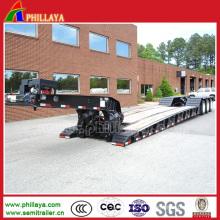 3 Achsen 50 Tonnen Tiefbett Semi Trailer mit freistehendem Schwanenhals