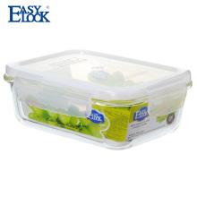 Etiqueta confidencial dos recipientes de armazenamento do alimento da preparação de vidro de 28 onças da refeição melhor