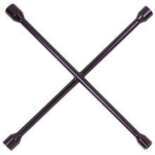 "Black 14"" Metric 4-Way Lug Wrench"