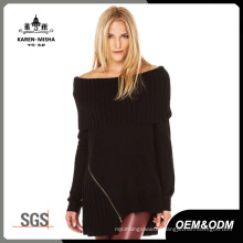 Women Turtleneck off Shoulder Sweater