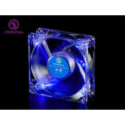 80mm Blue LED Computer Case Cooling Fans 80*80*25 mm , DF08