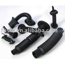 Molded rubber duct pipe