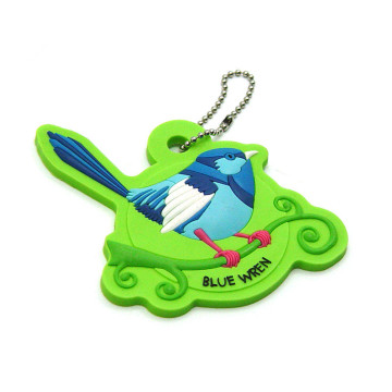 Cute Bird Shape PVC Keychain for Women