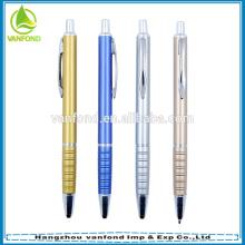 Barato promocional bolígrafo plástico con spray pintura metalizada