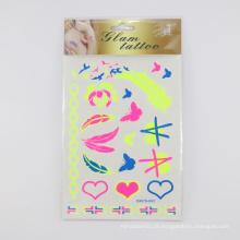 Etiqueta autoadesiva feita sob encomenda provisória do tatuagem, não-tóxica etiqueta Eco-amigável do tatuagem do corpo