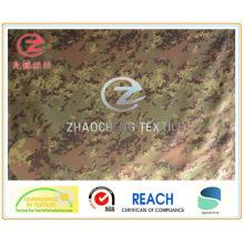 (ZCBP006) Tecido de impressão de camuflagem Spandex 150d do estilo de Itália com PU revestido para usos militares