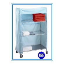 NSF Легко чистить металлический тканевый гардероб для больницы