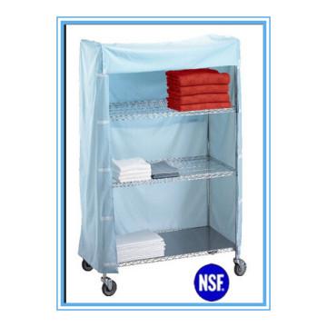 NSF Easily Clean Metal Fabric Wardrobe for Hospital