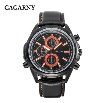 6825black Multi-Function Wristwatch para homens