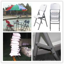 Silla de jardín ergonómica / molde de soplado HDPE plástica de acero plegable silla / banquete comedor Catering picnic Camping barbacoa silla (hq-y53)