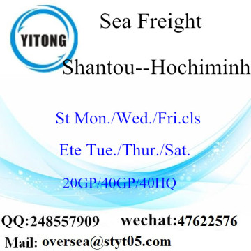 Transporte marítimo de Shantou Port Sea To Hochiminh