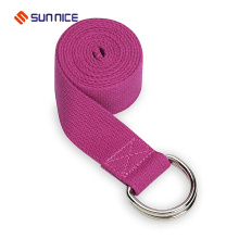 2017 Hot Sale 8 Foot Yoga Strap with D metal Ring