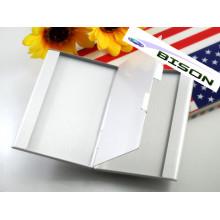 Duas camadas de metal cartão de titular do cartão caso