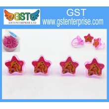 1'' Plastic Red Star Rings