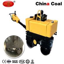 Rodillo de camino vibratorio de la mano hidráulica de la rueda doble del comienzo eléctrico diesel