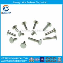 DIN6791Stock Rivets tubulaires semi-étanches en acier inoxydable / Rivets tubulaires creux