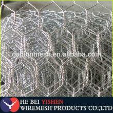 Rolo de malha de fio de ferro de coelho hexagonal de galão / PVC não galvanizado / PVC