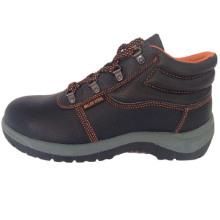 Chaussure de sécurité semelle PVC travail PU supérieure en cuir