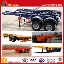 2 Achsen Container Skeleton Truck Semi Trailer