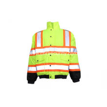 High visibility color safety jacket