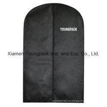 Custom Printed Black Non-Woven Travel Suit Bag